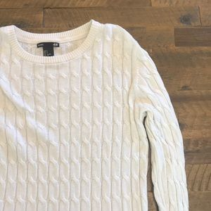 White ribbed sweater from H&M!